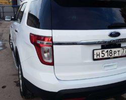 Форд explorer ремонт бампера и крышки багажника